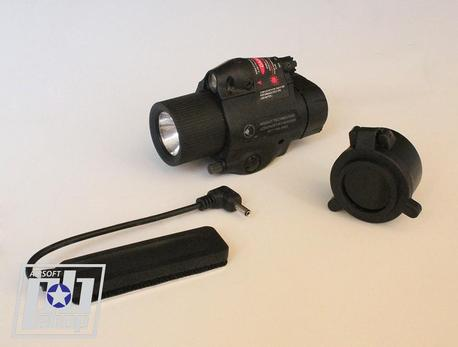 M6X Halogen Flashlight W/Red laser
