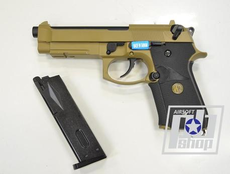WE BERETTA M92F, tan, металл